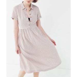 Urban outfitters gingham midi dress size medium